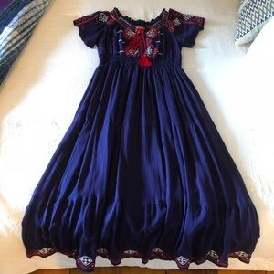 Adorable BoHo Tiered & Embroidered Dress Sz. S